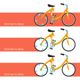 Womens Bike One Royalty Free Stock Photos