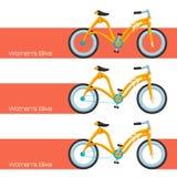 Womens Bike Two Royalty Free Stock Image
