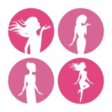 Womens body silhouette icons. Icon vector illustration graphic design Stock Photography