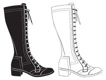 Womens boots. The figure shows the womens boots Royalty Free Stock Photography
