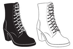 Womens boots. The figure shows the womens boots vector illustration