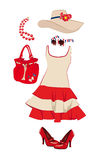 Womens clothing and accessories Stock Images