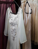 Womens clothing on a hanger, underwear,  dresses Stock Photos