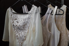 Womens clothing on a hanger, underwear,  dresses Stock Images