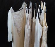 Womens clothing on a hanger, underwear,  dresses Royalty Free Stock Photo