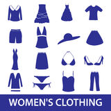 Womens clothing icon set eps10 Royalty Free Stock Images