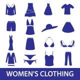 Womens clothing icon set eps10 Royalty Free Stock Images
