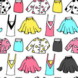 Womens clothing pattern seamless vector Royalty Free Stock Photo