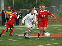 Women's college soccer Stock Image