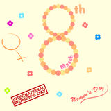 Womens Day. Set of shapes - topic - Womens day stock illustration