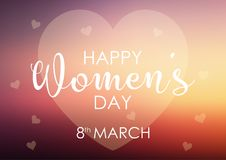 Womens day background with pastel heart design Stock Photography