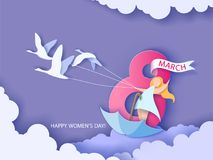 Womens day card Royalty Free Stock Photography