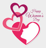 Womens day card design,  illustration. Royalty Free Stock Image