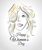 Womens day card design,  illustration. Royalty Free Stock Photography
