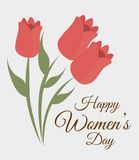 Womens day card design, vector illustration. Stock Image
