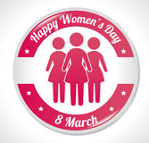 Womens day card design, vector illustration. Royalty Free Stock Images