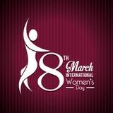 Womens day card design, vector illustration. Stock Photos