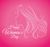 Womens day card design, vector illustration. Royalty Free Stock Photo