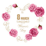 Womens day card Royalty Free Stock Images