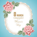 Womens day card Royalty Free Stock Photos