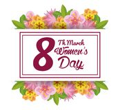 Womens day card. Icon vector illustration graphic design Stock Photo