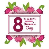Womens day card. Icon vector illustration graphic design Royalty Free Stock Photo