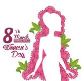 Womens day card. Icon vector illustration graphic design Stock Images