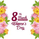 Womens day card. Icon vector illustration graphic design Royalty Free Stock Photography