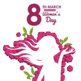 Womens day card. Icon vector illustration graphic design Royalty Free Stock Images