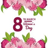Womens day card. Icon vector illustration graphic design Royalty Free Stock Photos