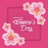Womens day card. Icon vector illustration graphic design Royalty Free Stock Image
