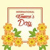 Womens day card. Icon vector illustration graphic design royalty free illustration