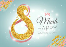 Womens Day celebration greeting card Royalty Free Stock Photography