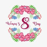 Womens day celebration on march 8. Vector illustration Stock Image