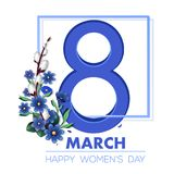 Womens Day design. Womens Day card. Happy Women`s Day. 8th March. Vector illustration royalty free illustration
