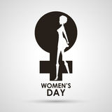 Womens day gender symbol with girl Stock Photo