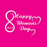 Womens day greeting card design Stock Photo