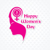 Womens day greeting card design Royalty Free Stock Photo