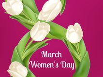 Womens Day Greeting Card. EPS 10 Stock Image