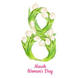 Womens Day greeting card. EPS 10. 8 March Womens Day greeting card template. EPS 10 vector file included Stock Image