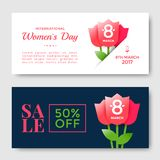 Womens Day greeting card Stock Photos