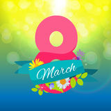 Womens Day Greeting Card 8 March Vector Illustration Royalty Free Stock Photos