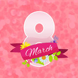 Womens Day Greeting Card 8 March Vector Illustration Royalty Free Stock Images