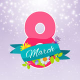 Womens Day Greeting Card 8 March Vector Illustration Stock Photo