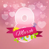 Womens Day Greeting Card 8 March Vector Illustration Stock Images