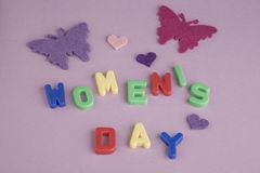 Womens day greeting Royalty Free Stock Photos