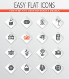 Womens Day icons set. Womens Day vector icons for user interface design stock illustration