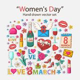 Womens day icons Royalty Free Stock Image