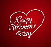Womens Day logo on red background Royalty Free Stock Images