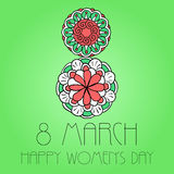 Womens day 8 march element Royalty Free Stock Image